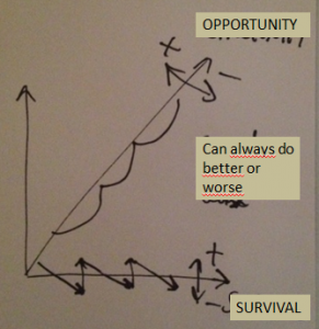Survival vs. Opportunity space